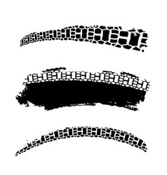 tire tracks elements vector image