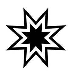 Trendy retro star the black color icon vector