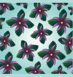 trendy seamless floral pattern background vector image