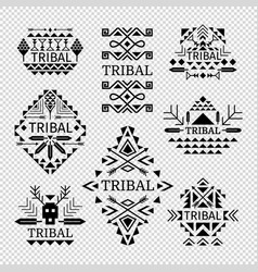 tribal logos set vector image