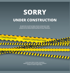 Under construction page web site design template vector
