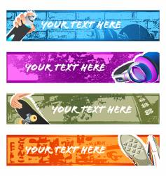 Urban banner backgrounds set vector