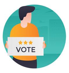 Vote publicity vector