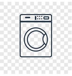 washing machine concept linear icon isolated on vector image