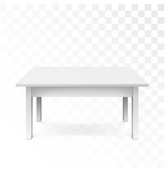 white office table with shadow isolated on vector image