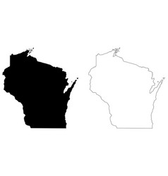 Wisconsin wi state map usa vector