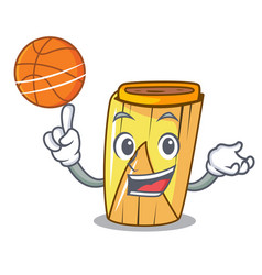 With basketball homemade wrapped tamales isolated vector