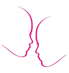 Woman whispering into another womans ears vector
