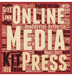 Build a Better Online Press Kit text background vector image