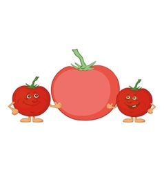 Character tomatoes friends vector image vector image