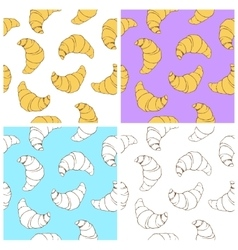 Croissant seamless texture vector image