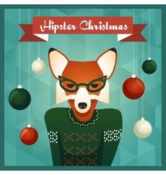 Cute Fox girl in sweater vector image vector image