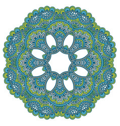 mandala pattern of henna floral elements vector image