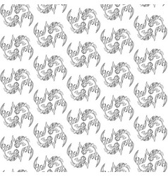 seamless pattern image fishes vector image