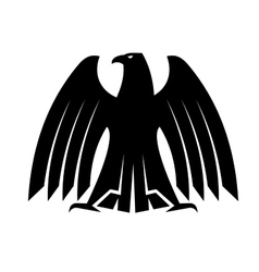 Silhouette of a proud eagle vector image