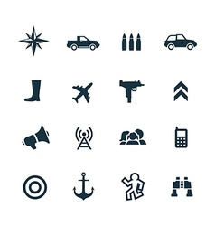 war icons set vector image vector image