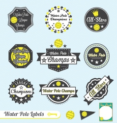 Water Polo League Champions Labels vector image vector image