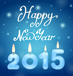 Candles 2015 Happy New Year vector image