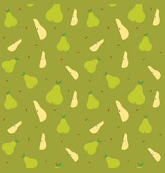 fruits pear seamless patterns vector image
