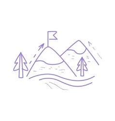 Mountain Hiking Simple Map vector image
