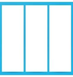 Three Empty Flyer Mockup Template vector image