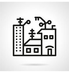 Apartments for sale black line icon vector image