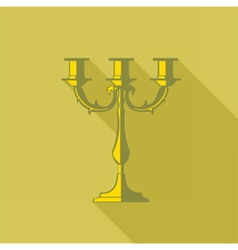 Digital candlestick with shadow vector image