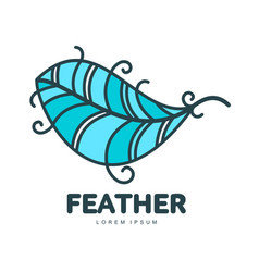 feather logo template vector image vector image