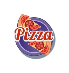 Pizza sticker vector