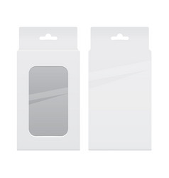 realistic white package box set for software vector image