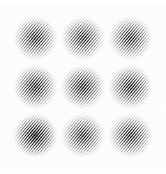Set of Abstract halftone dotted circles vector image