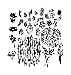 hand drawn brush spring vector image vector image