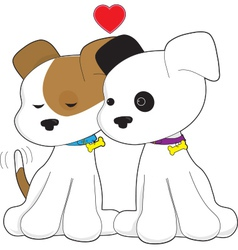 Puppy Couple vector image