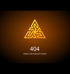 404 error page for website error vector image