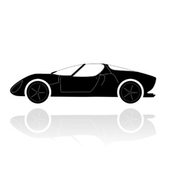A silhouette of a car vector image