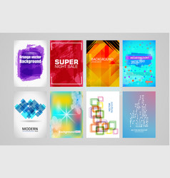 abstract backgrounds set a4 title sheet template vector image