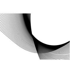 Abstract black wave dark background vector