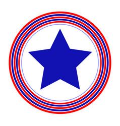 american symbol blue star icon vector image