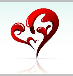 Artistic heart shape as design element vector