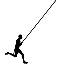 athlete male pole vault vector image
