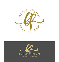 b f initials monogram logo design dry brush vector image