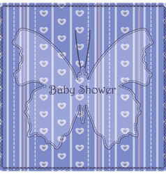 Baby-shower-butterfly-stripes-blue vector
