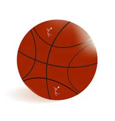 basket-ball ball vector image