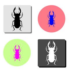 beetle flat icon vector image