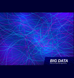 Big data visual concept abstract technology vector