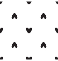 black heart icon pattern vector image