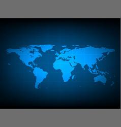 blue world map digital technology background vector image
