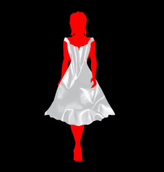 bridesmaid silk dress vector image