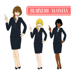 Business woman pointing vector