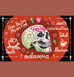 Calavera greeting banner vector